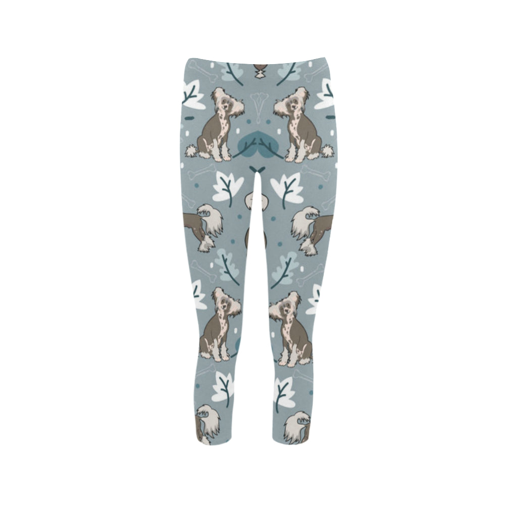 Chinese Crested Capri Legging (Model L02) - TeeAmazing