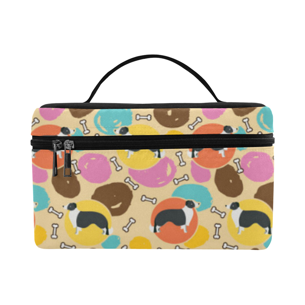 Border Collie Pattern Cosmetic Bag/Large (Model 1658) - TeeAmazing
