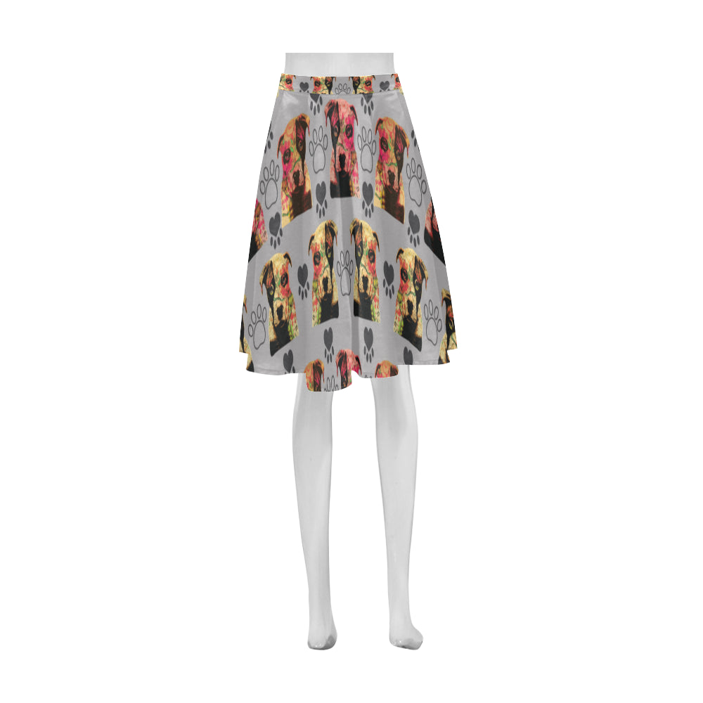 Pit Bull Pop Art Pattern No.1 Athena Women's Short Skirt - TeeAmazing