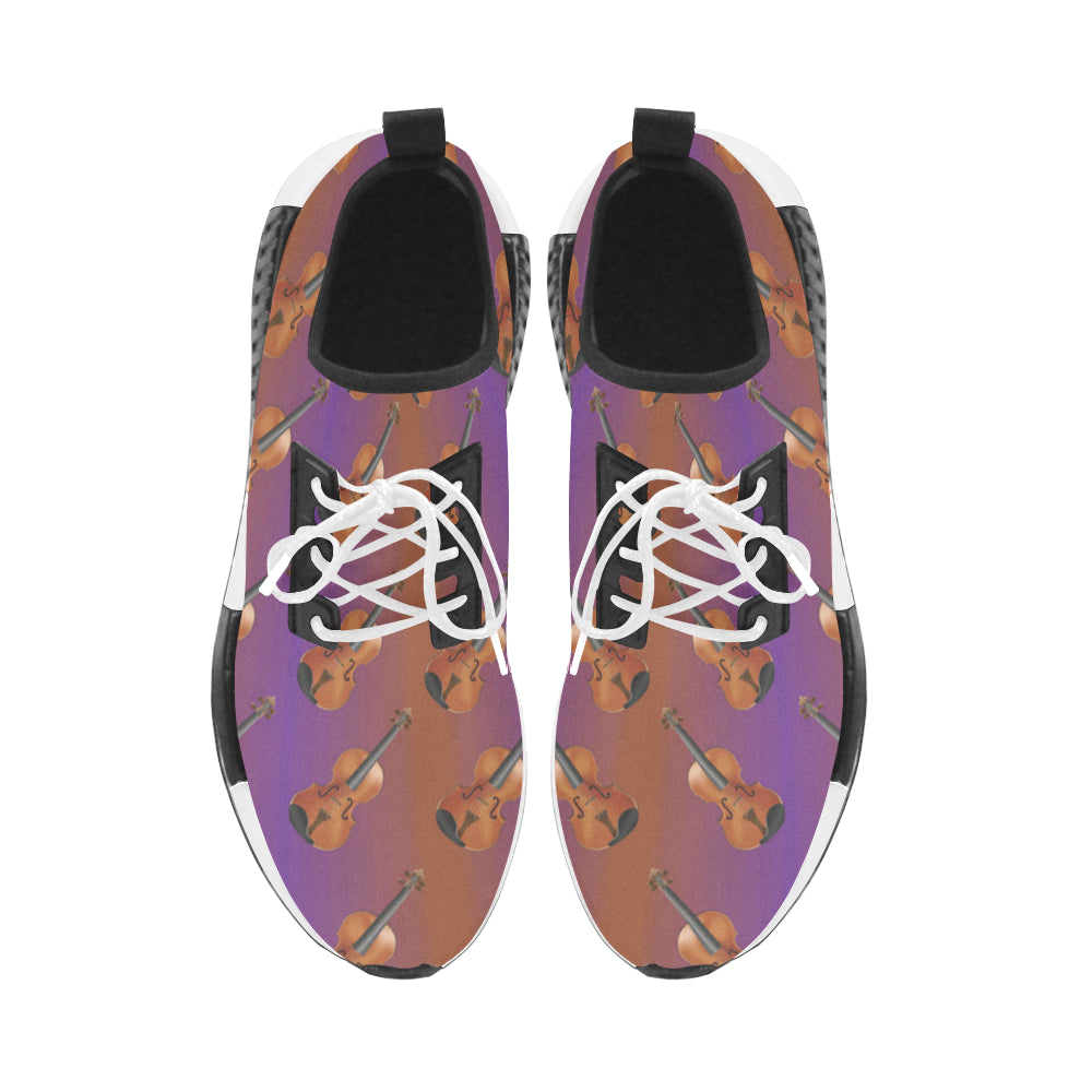 Violin Pattern Women's Draco Running Shoes - TeeAmazing