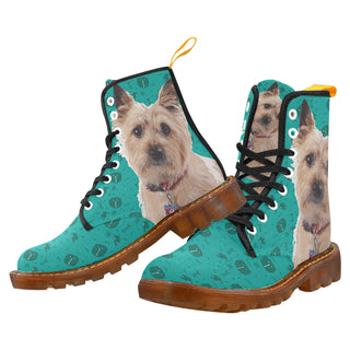 Cairn terrier Black Martin Boots For Women Model 1203H - TeeAmazing