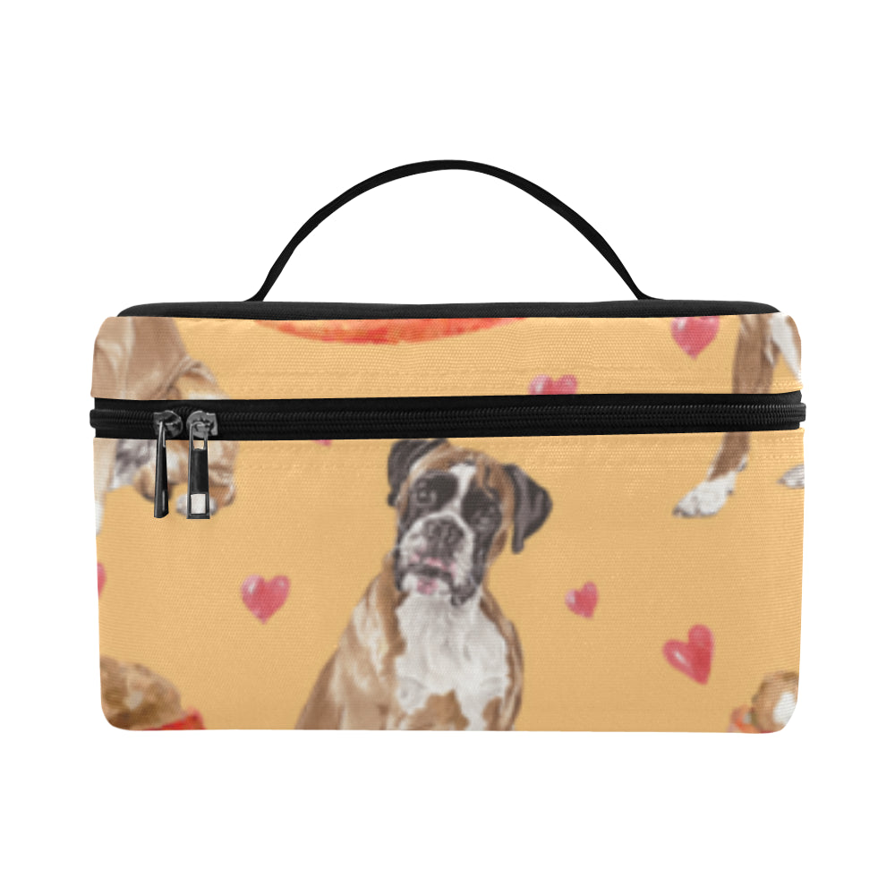 Boxer Water Colour Pattern No.1 Cosmetic Bag/Large - TeeAmazing