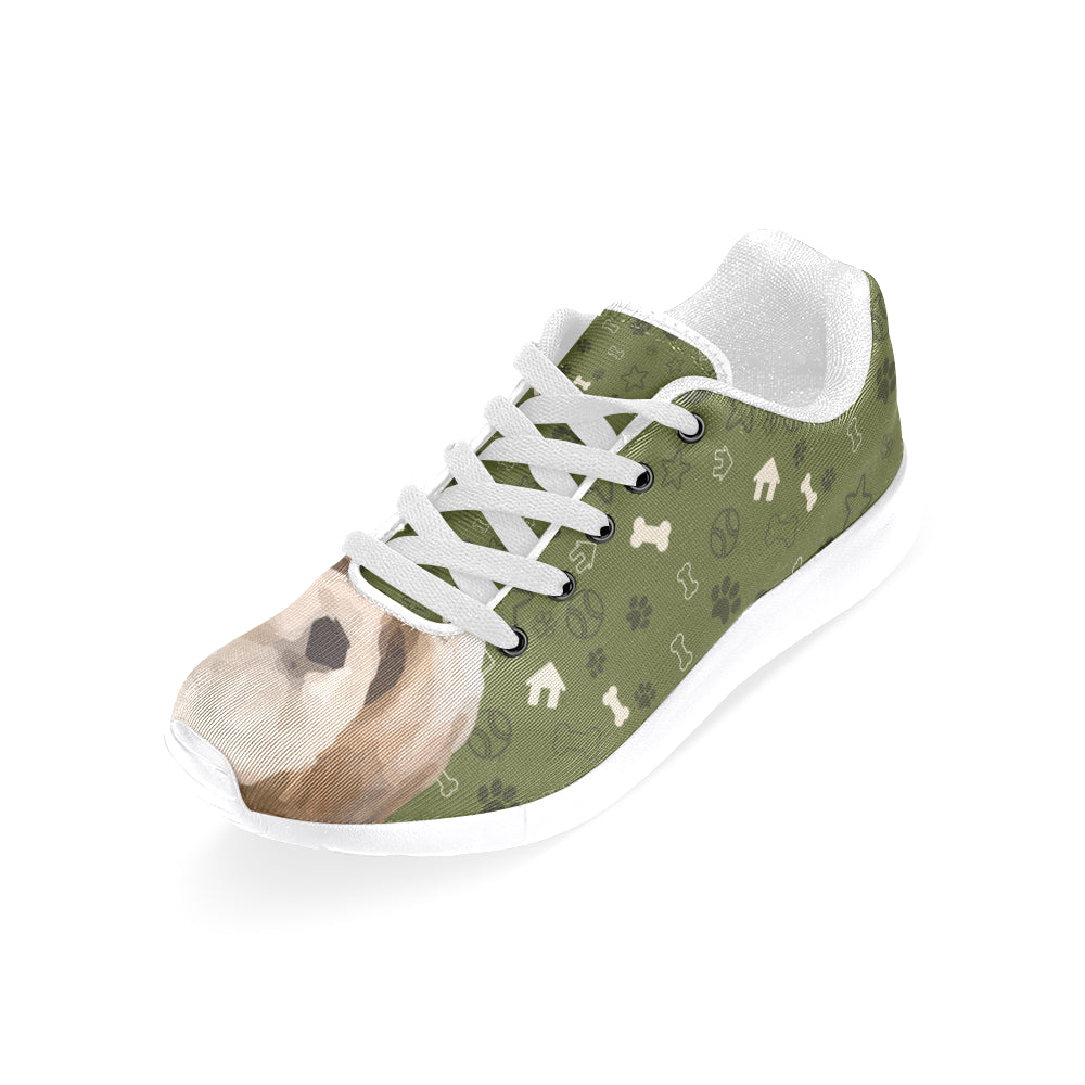 Lhasa Apso Dog White Sneakers for Women - TeeAmazing
