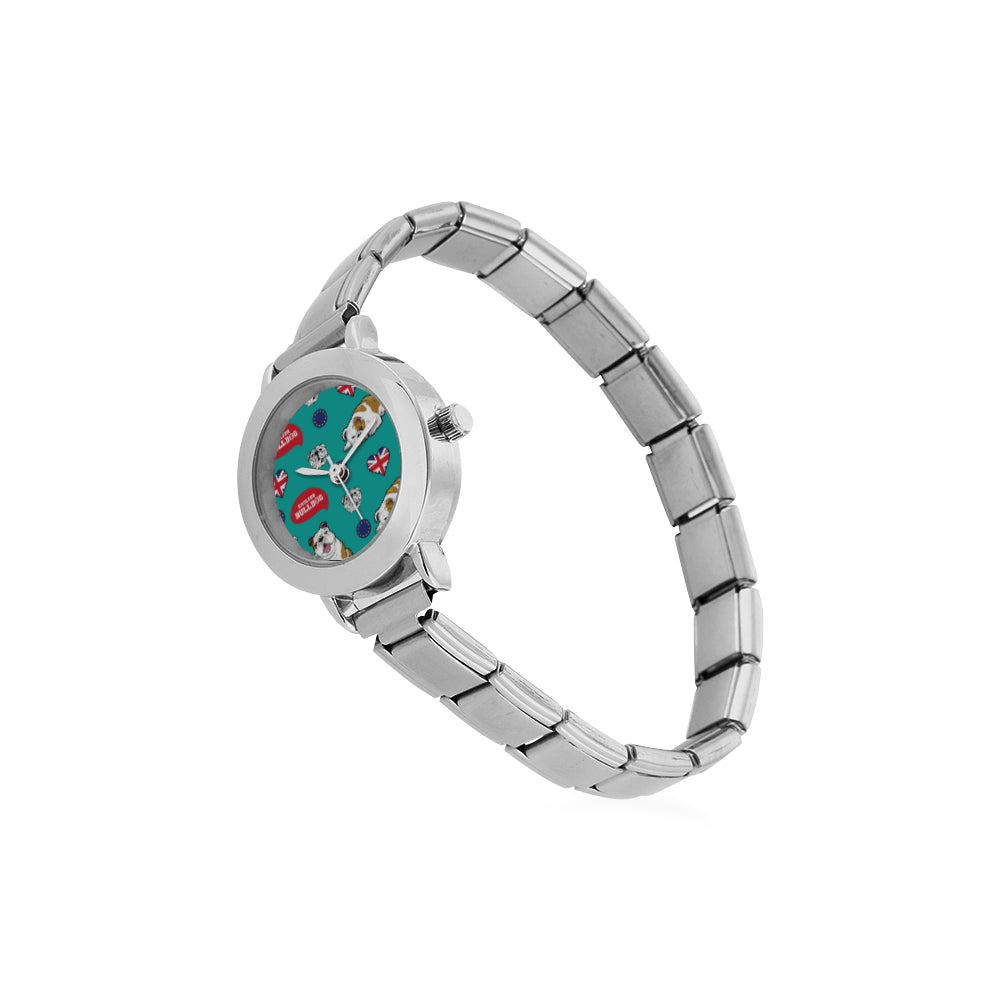 English Bulldog Women's Italian Charm Watch - TeeAmazing