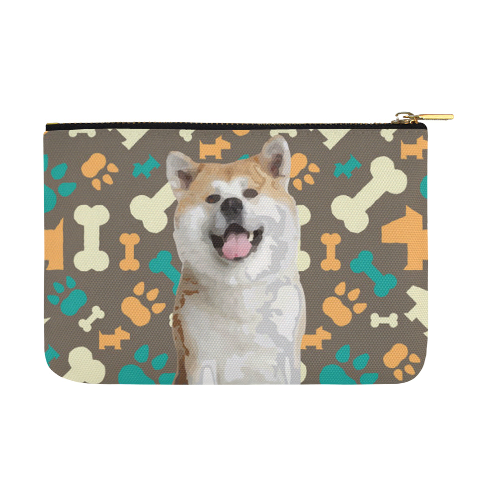 Akita Carry-All Pouch 12.5x8.5 - TeeAmazing