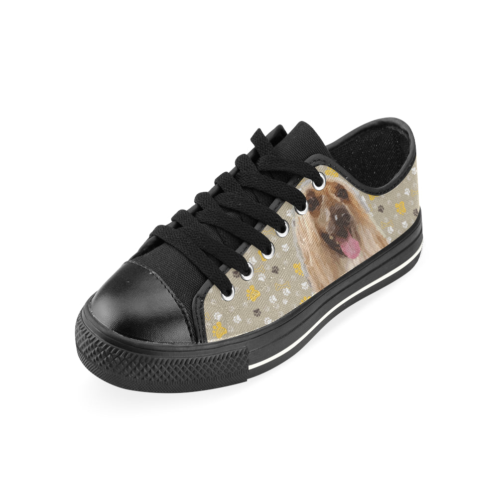 Afghan Hound Black Men's Classic Canvas Shoes - TeeAmazing