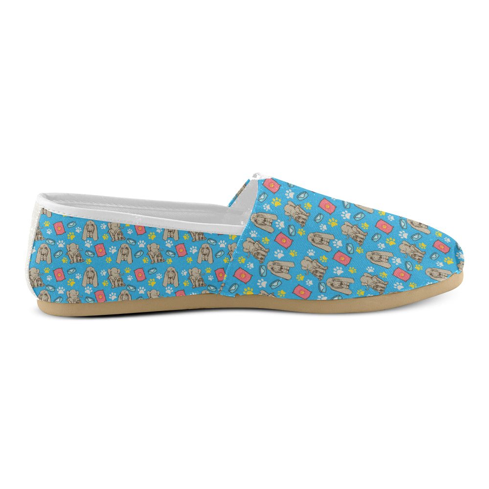Bloodhound Pattern Women's Casual Shoes - TeeAmazing