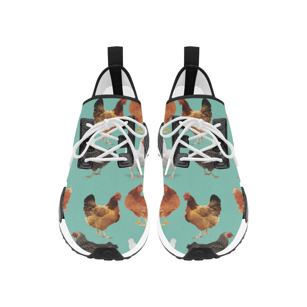 Chicken Pattern Women's Draco Running Shoes - TeeAmazing
