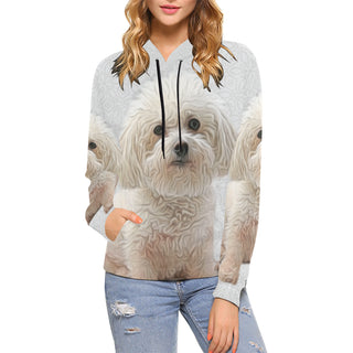 Bichon Frise Lover All Over Print Hoodie for Women - TeeAmazing