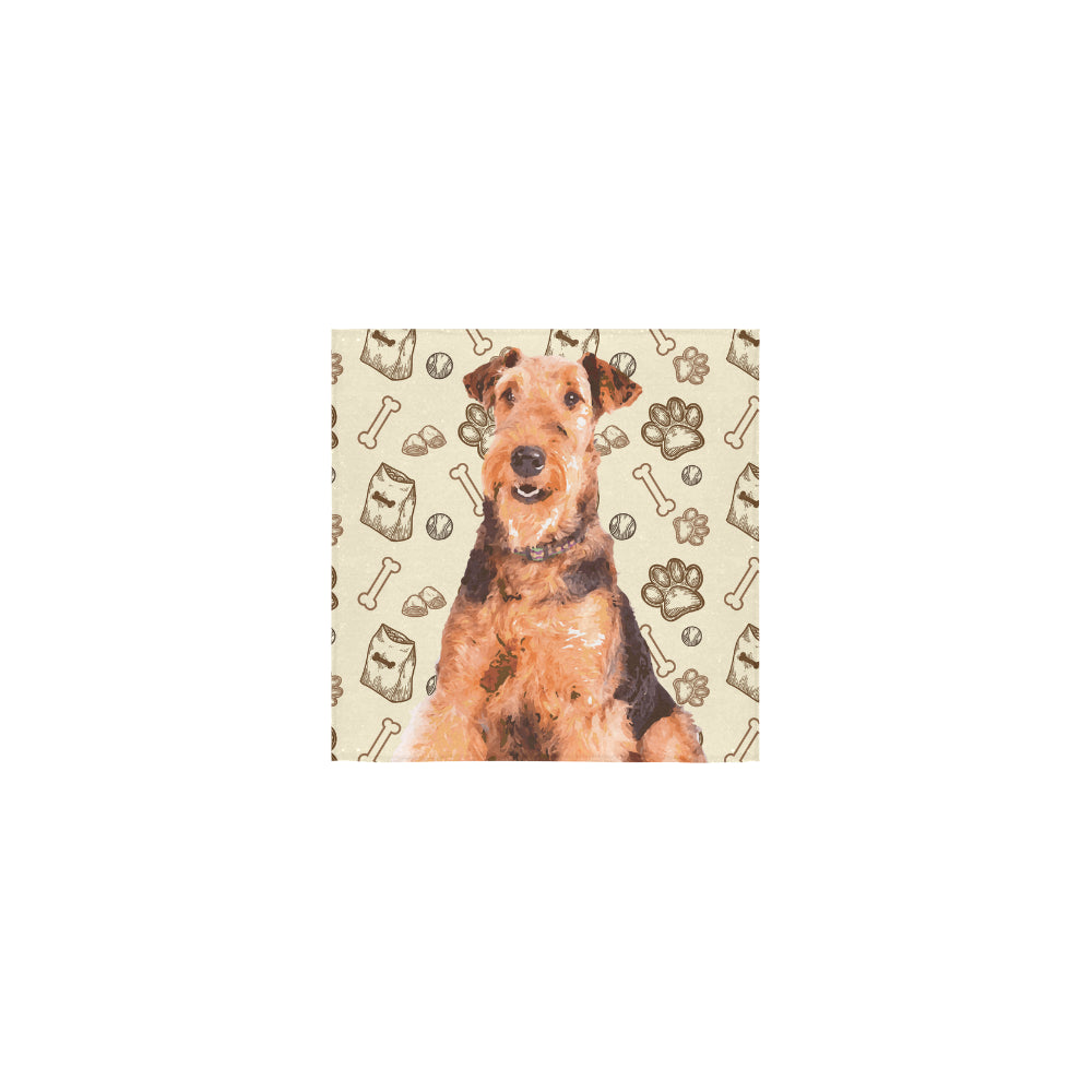 Airedale Terrier Square Towel 13x13 - TeeAmazing