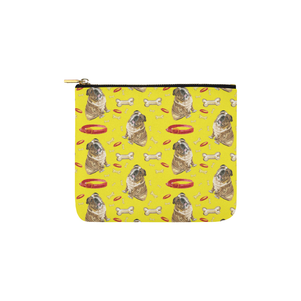 English Bulldog Water Colour Pattern No.2 Carry-All Pouch 6x5 - TeeAmazing
