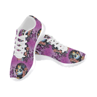 Sugar Skull Candy V1 White Sneakers Size 13-15 for Men - TeeAmazing