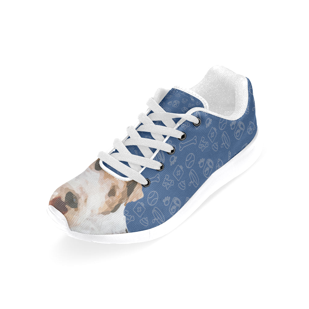 Wire Hair Fox Terrier Dog White Sneakers for Men - TeeAmazing