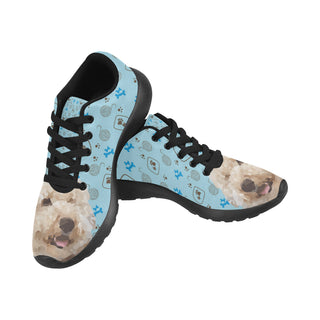Labradoodle Black Sneakers for Women - TeeAmazing