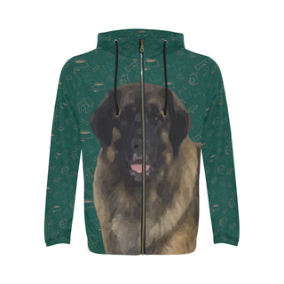 Leonburger Dog All Over Print Full Zip Hoodie for Men - TeeAmazing