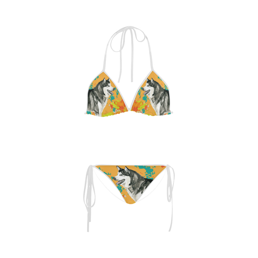 Alaskan Malamute Water Colour No.2 Custom Bikini Swimsuit - TeeAmazing