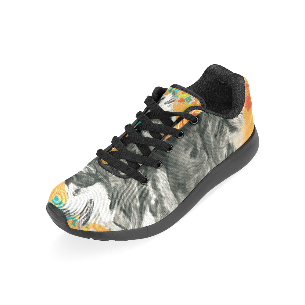Alaskan Malamute Water Colour No.2 Black Sneakers Size 13-15 for Men - TeeAmazing