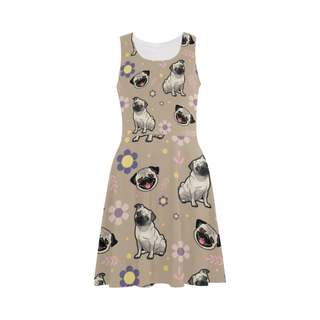 Pug Flower Atalanta Sundress - TeeAmazing