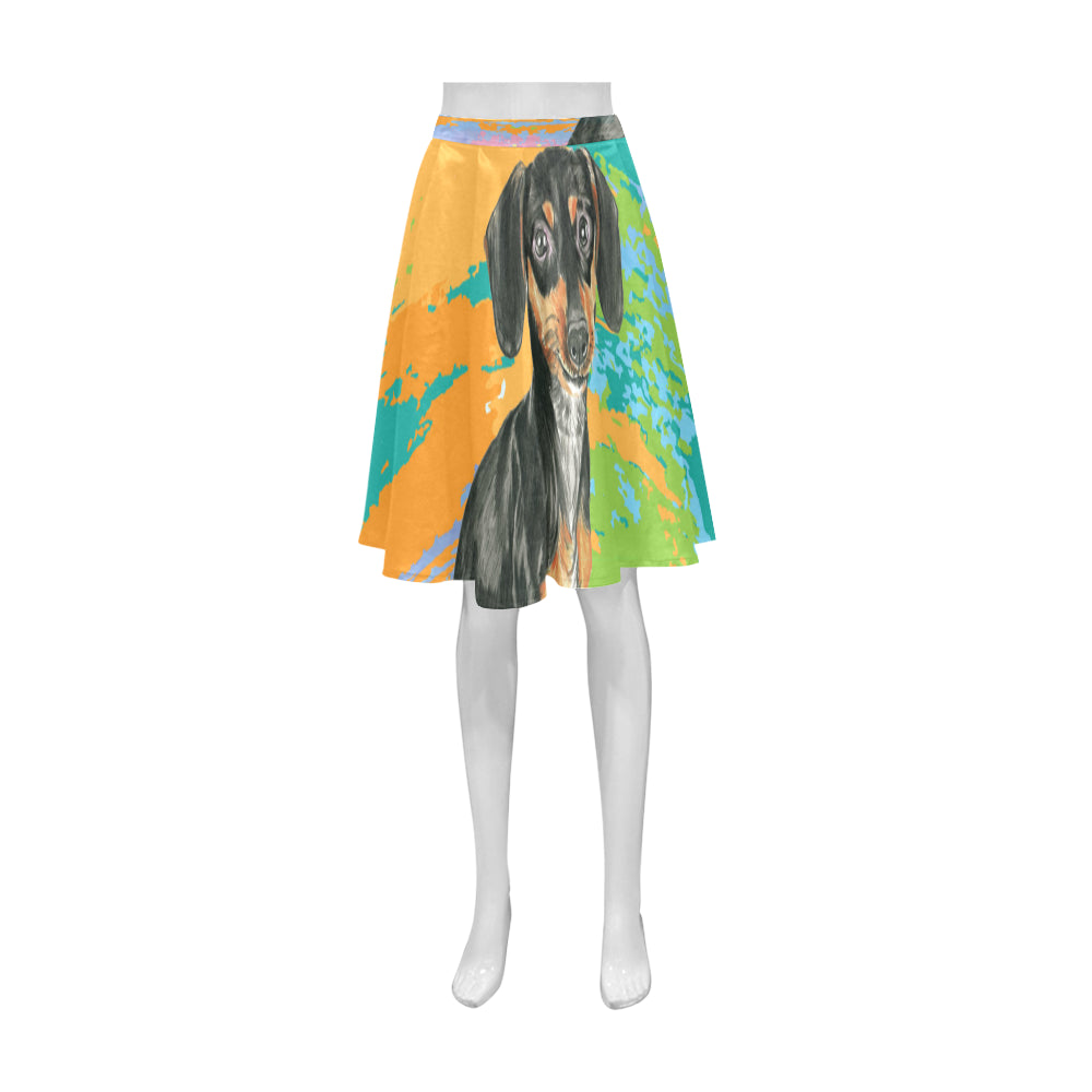 Dachshund Water Colour No.2 Athena Women's Short Skirt - TeeAmazing