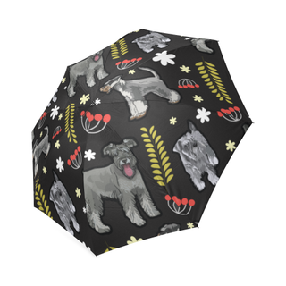 Miniature Schnauzer Flower Foldable Umbrella - TeeAmazing