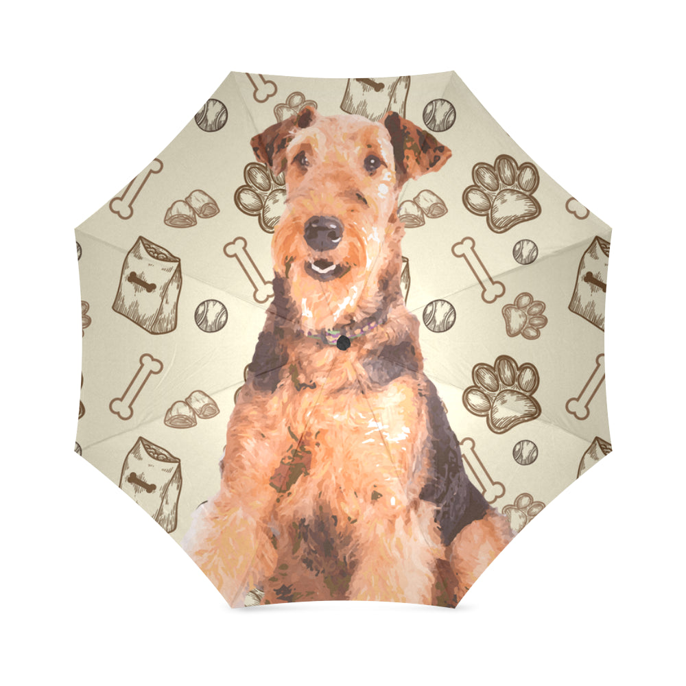 Airedale Terrier Foldable Umbrella - TeeAmazing