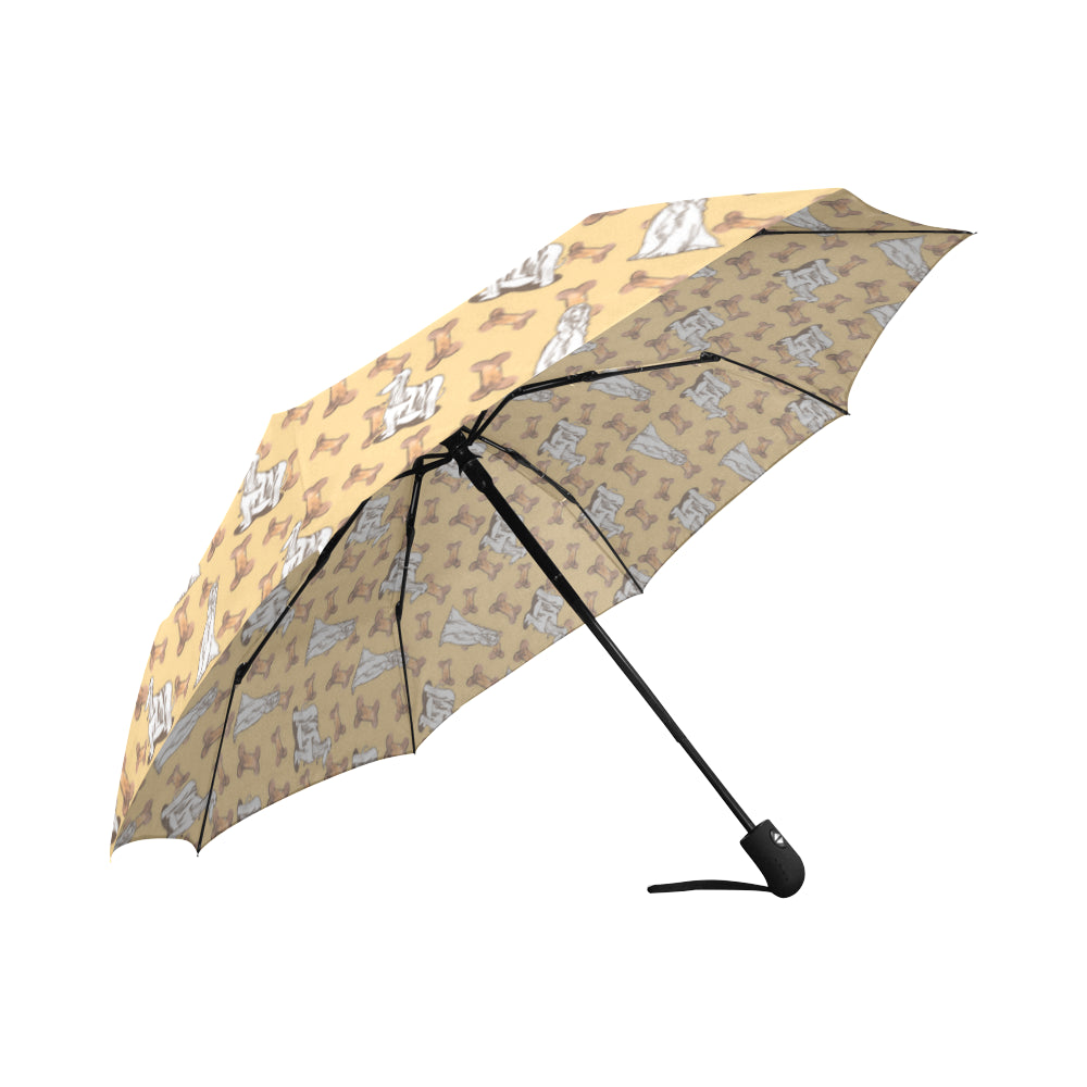 Afghan Hound Pattern Auto-Foldable Umbrella - TeeAmazing