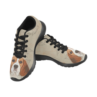 Beagle Lover Black Sneakers for Men - TeeAmazing