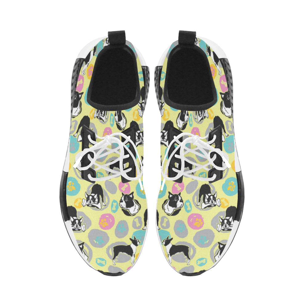 Boston Terrier Pattern Men's Draco Running Shoes - TeeAmazing