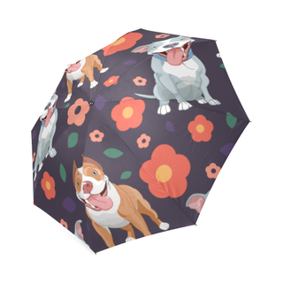 Pit bull Flower Foldable Umbrella - TeeAmazing