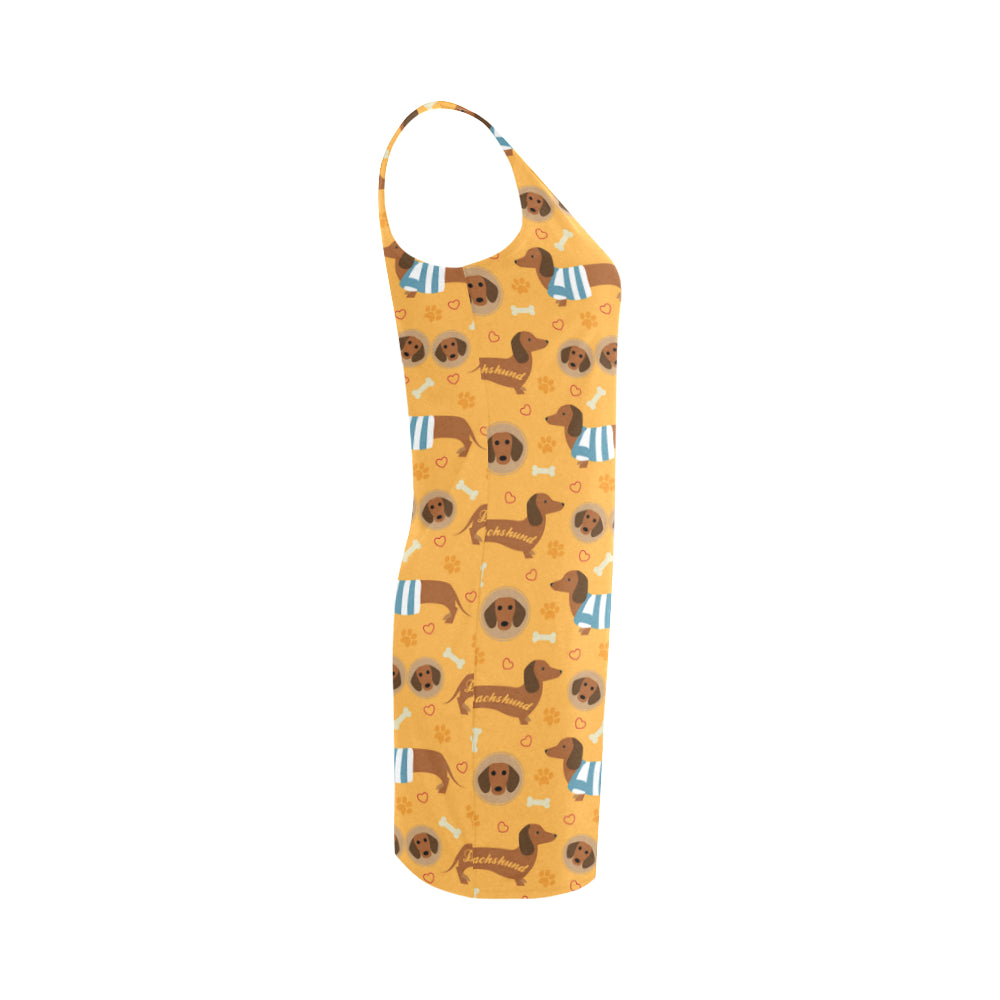 Dachshund Pattern Medea Vest Dress - TeeAmazing