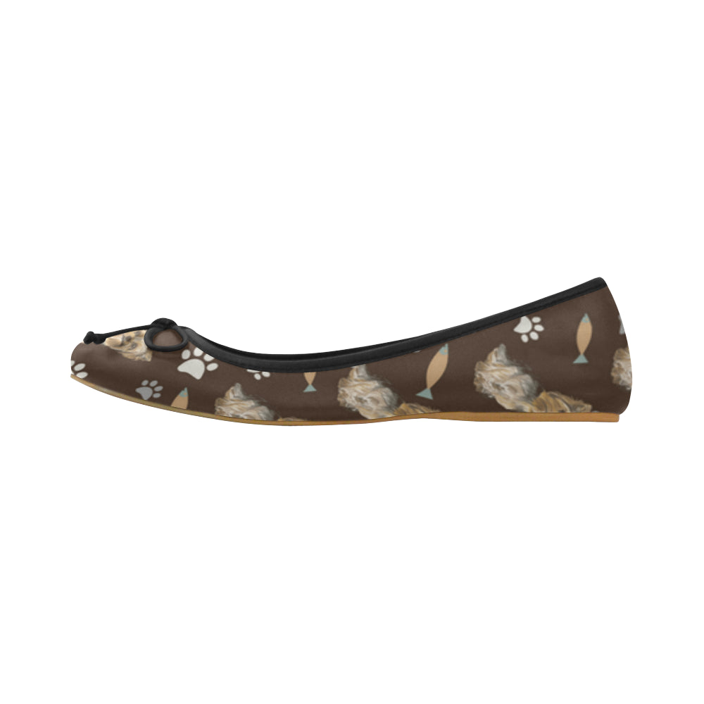 Yorkshire Terrier Water Colour Pattern No.1 Juno Ballet Pumps - TeeAmazing