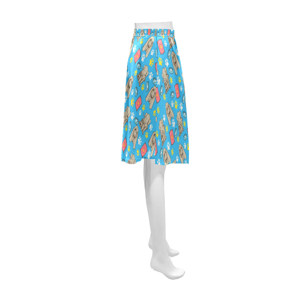 Bloodhound Pattern Athena Women's Short Skirt - TeeAmazing
