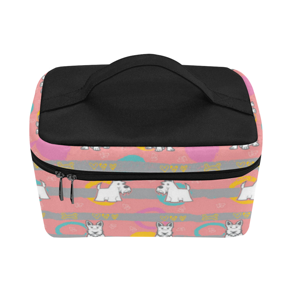Scottish Terrier Pattern Cosmetic Bag/Large (Model 1658) - TeeAmazing