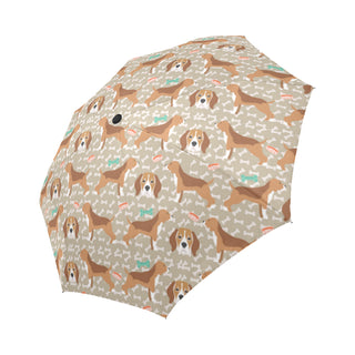 Beagle Pattern Auto-Foldable Umbrella - TeeAmazing