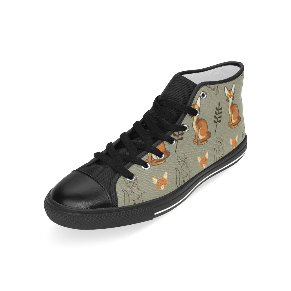Abyssinian Black Men's Classic High Top Canvas Shoes (Model 017) - TeeAmazing