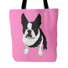 Boston Terrier Dog Tote Bags - Boston Terrier Bags - TeeAmazing - 3