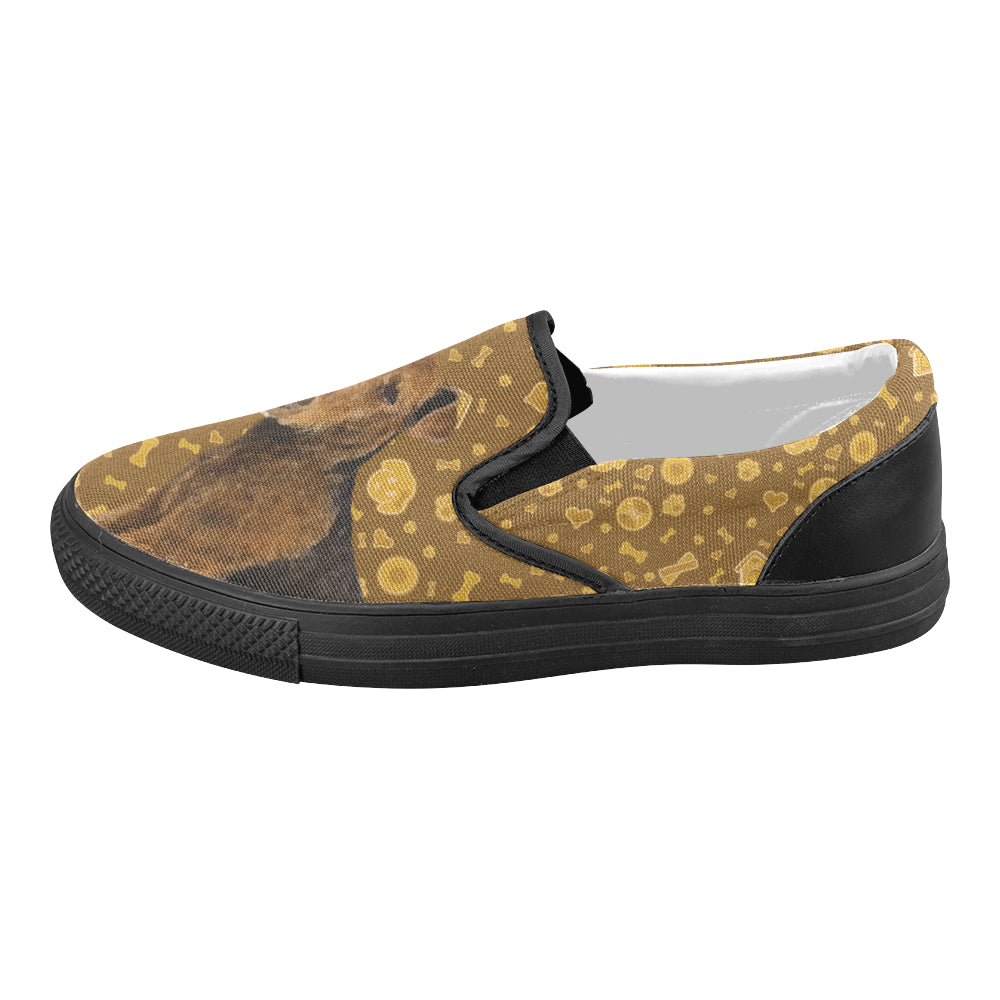 Welsh Terrier Dog Black Women's Slip-on Canvas Shoes - TeeAmazing