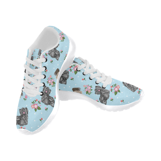 Skye Terrier Flower White Sneakers Size 13-15 for Men - TeeAmazing