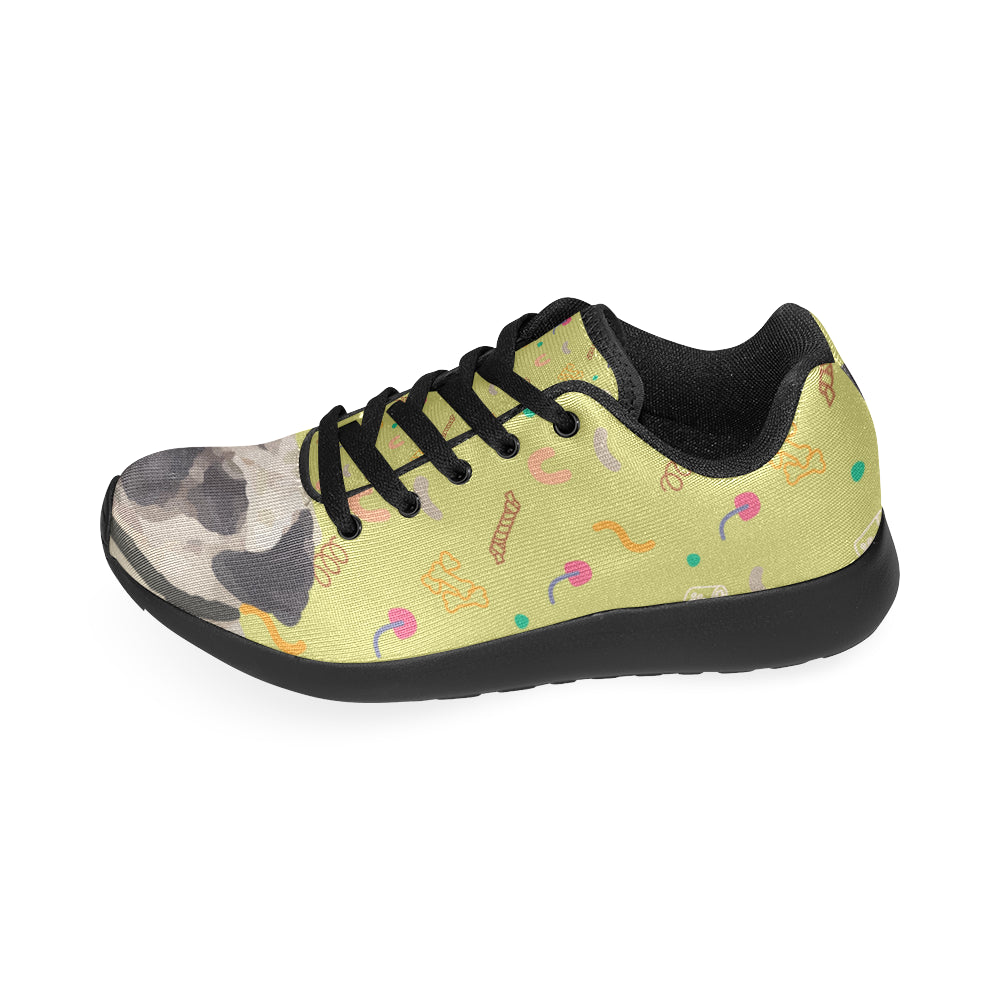 Pug Black Sneakers for Women - TeeAmazing