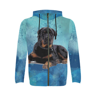 Rottweiler V2 All Over Print Full Zip Hoodie for Men - TeeAmazing