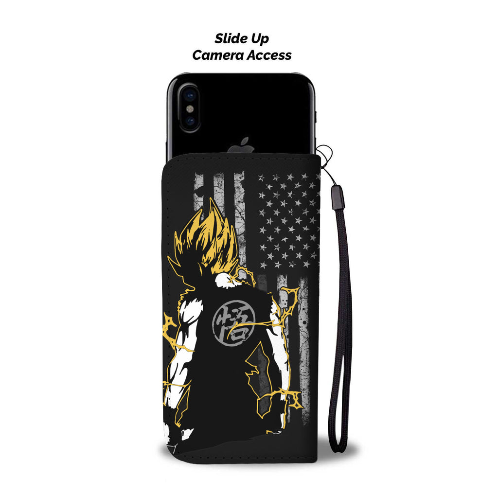 Goku Flag Wallet Phone Case - DBZ Phone Case Wallet - TeeAmazing