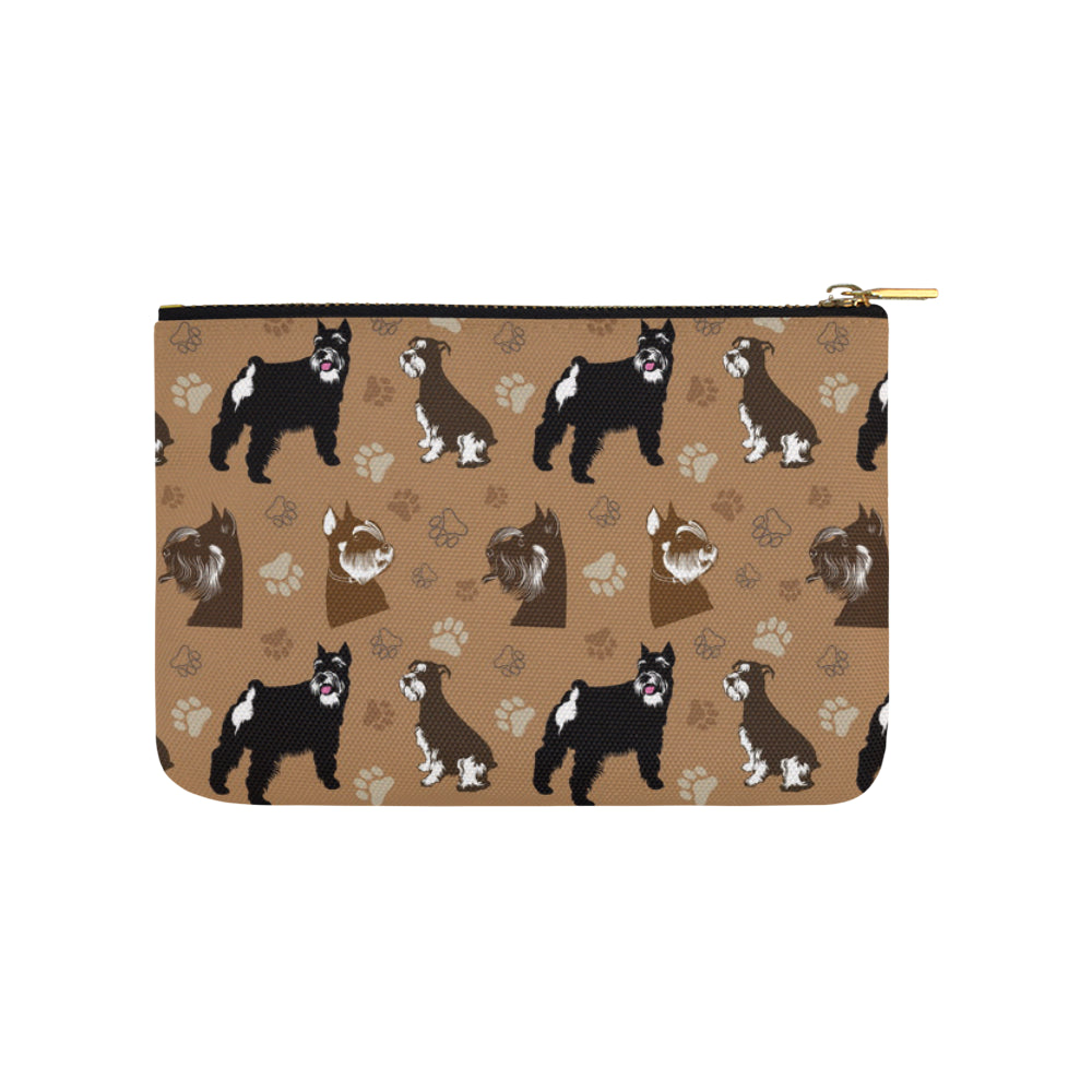 Miniature Schnauzer Pattern Carry-All Pouch 9.5x6 - TeeAmazing