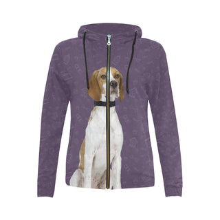 English Pointer Dog All Over Print Full Zip Hoodie for Women - TeeAmazing