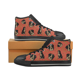 Bouviers Black Women's Classic High Top Canvas Shoes (Model 017) - TeeAmazing