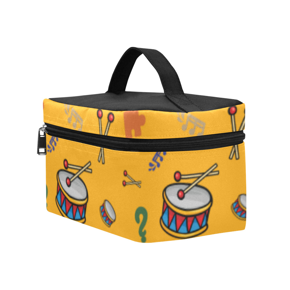 Bass Drum Pattern Cosmetic Bag/Large - TeeAmazing