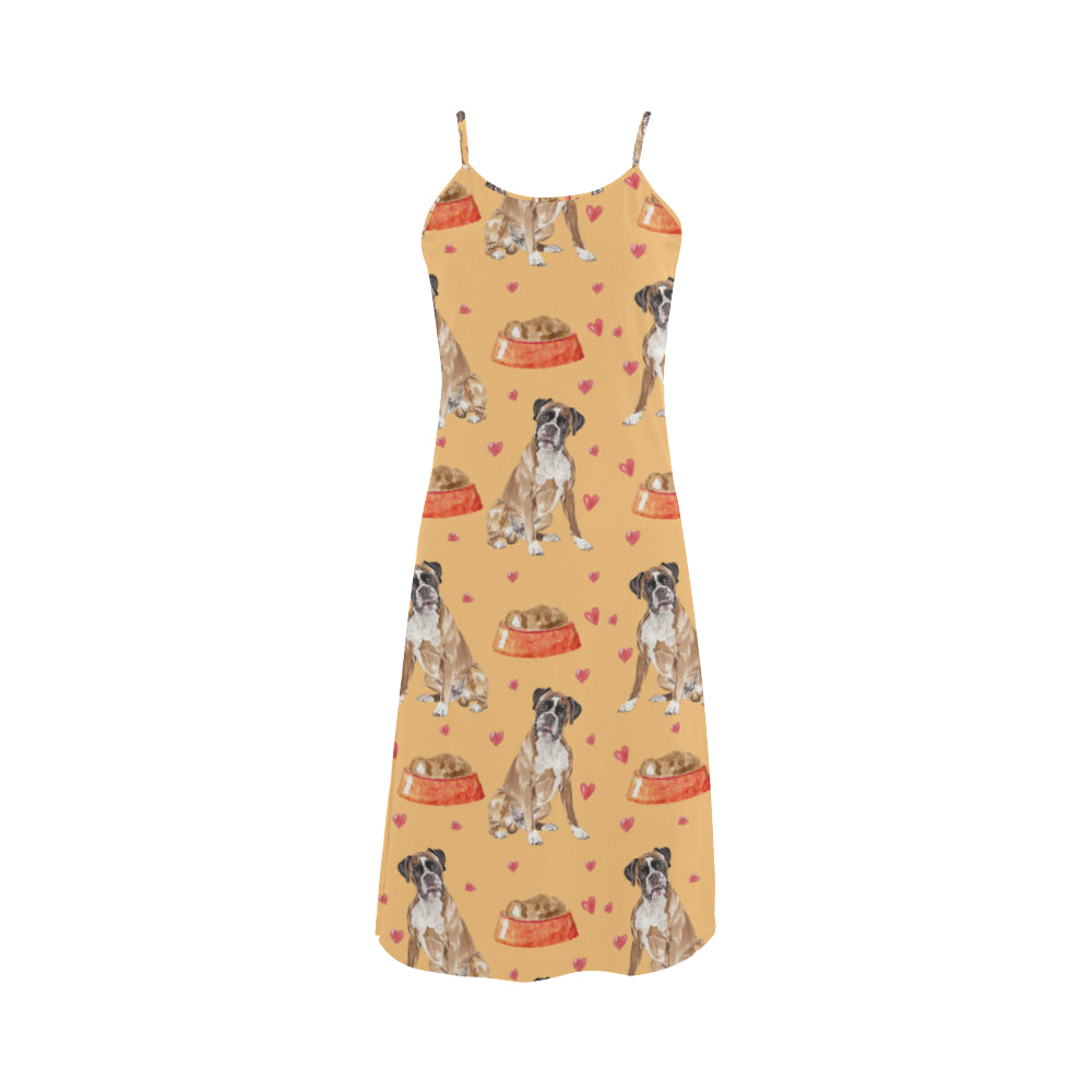 Boxer Water Colour Pattern No.1 Alcestis Slip Dress - TeeAmazing