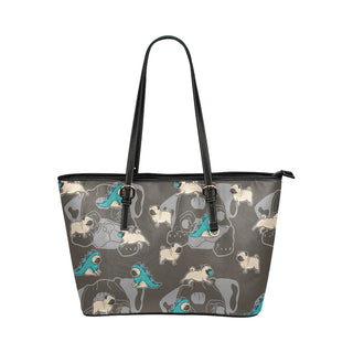 Pug Leather Tote Bags - Pug Bags - TeeAmazing
