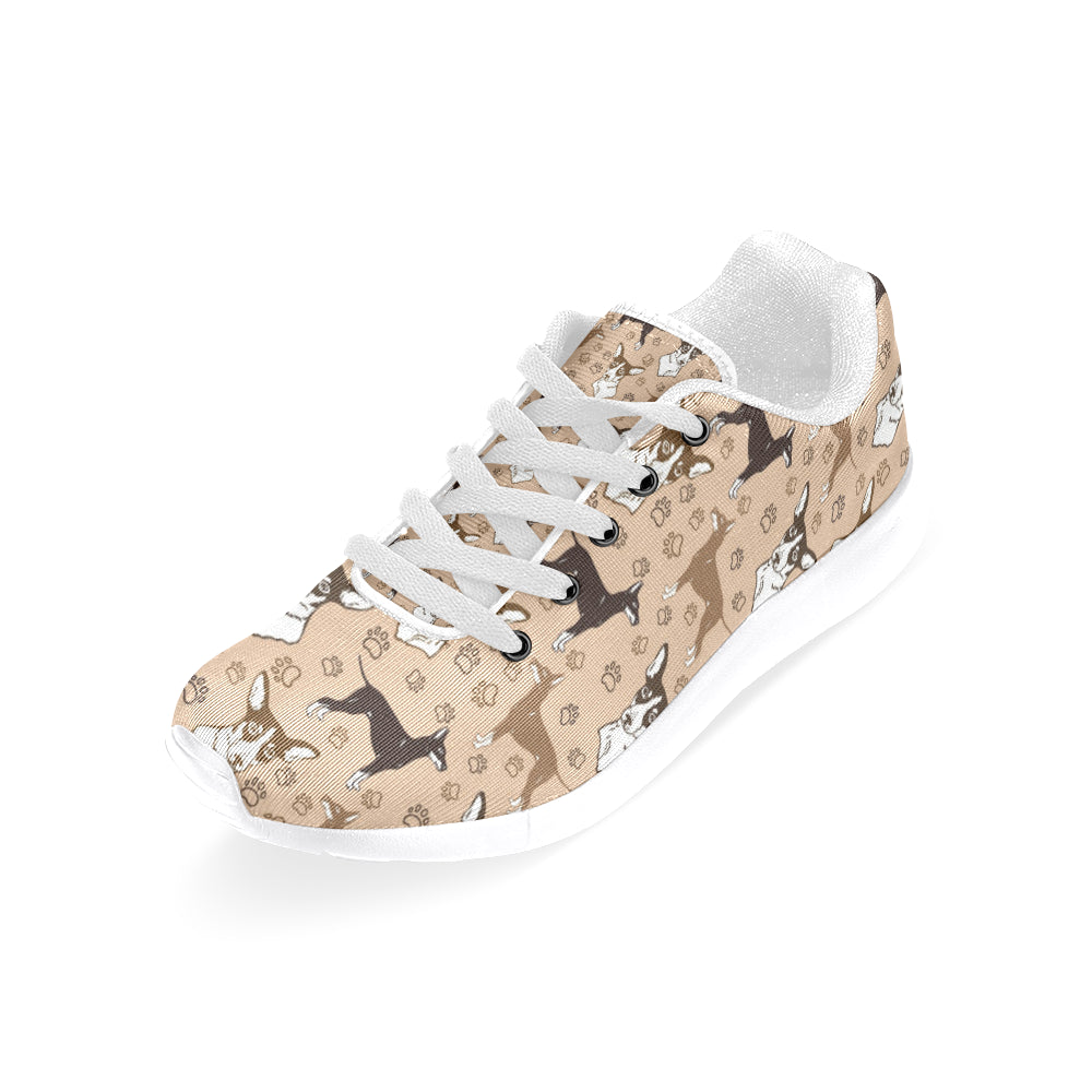 Manchester Terrier White Sneakers for Women - TeeAmazing