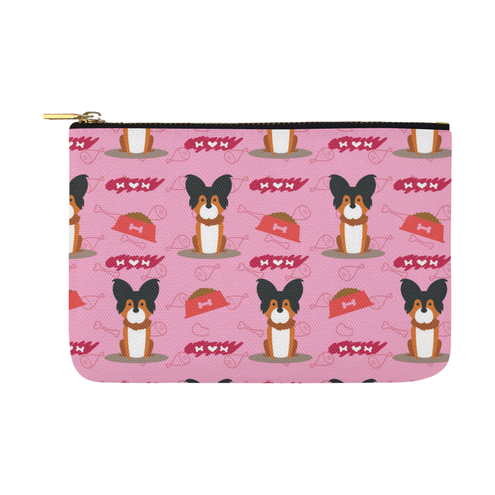Papillon Pattern Carry-All Pouch 12.5x8.5 - TeeAmazing