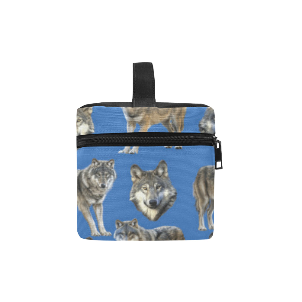 Wolf Pattern Cosmetic Bag/Large - TeeAmazing